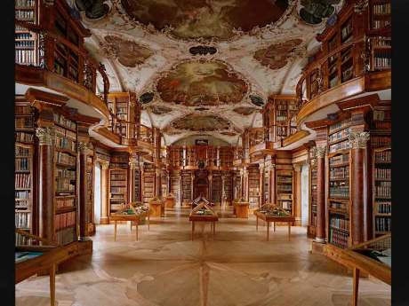 Bibliothèque de l'Abbaye de Saint-Gallen, Suisse