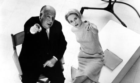 Hitchcock e  Tippi Hedren (que fez Os Pássaros e Marnie)